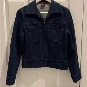 EUC Deep Blue Jessica Denim Zippered Jacket